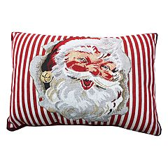 Park B. Smith Holiday Santa Cheer Oblong Throw Pillow