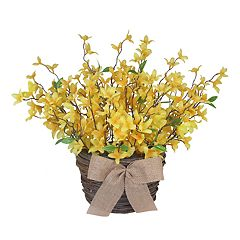SONOMA Goods for Life™ Artificial Forsythia Basket Wall Decor