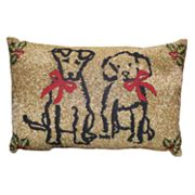 Park B. Smith Holiday Pet Present Oblong Throw Pillow