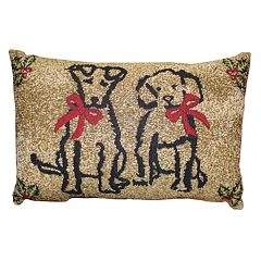 Park B. Smith Holiday Pet Present Oblong Throw Pillow