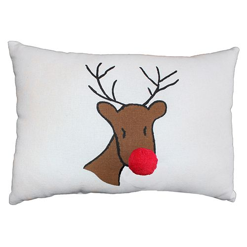 Park B. Smith Holiday Reindeer Oblong Throw Pillow