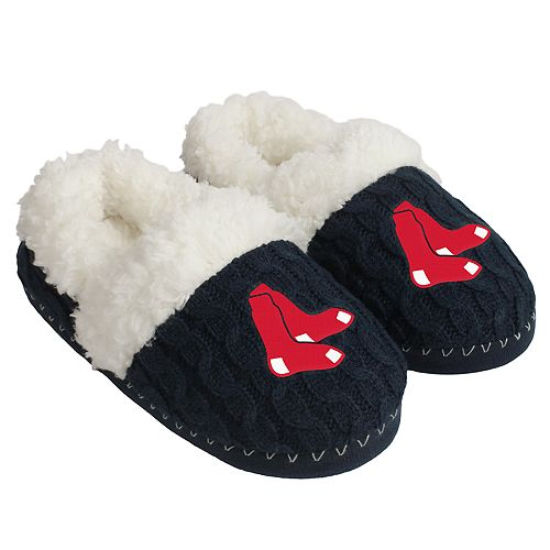 amazing price size 7 exclusive range Women's Forever Collectibles Boston Red Sox Cable Knit Slippers