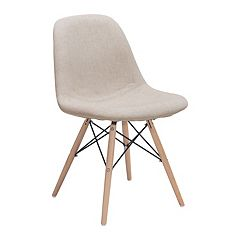 Zuo Modern Selfie Upholstered Linen Dining Chair
