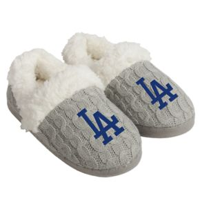 Women's Forever Collectibles Los Angeles Dodgers Cable Knit Slippers