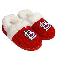 Women's Forever Collectibles St. Louis Cardinals Cable Knit Slippers