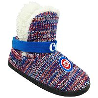 Women's Forever Collectibles Chicago Cubs Peak Boot Slippers