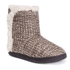 Women's MUK LUKS Cheyenne Knit Boot Slippers