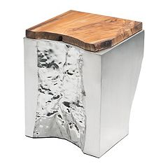 Zuo Modern Luxe Wood & Steel End Table