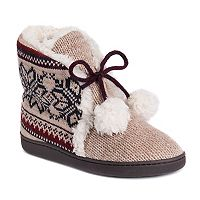 Women's MUK LUKS Lulu Knit Bootie Slippers