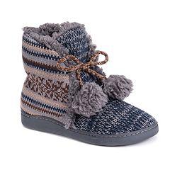Women's MUK LUKS Lulu Knit Bootie Slippers