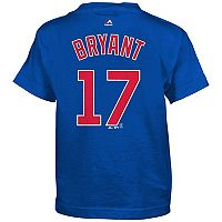 Boys 4-7 Majestic Chicago Cubs Kris Bryant Name and Number Tee
