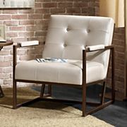 INK+IVY Waldorf Faux-Leather Ostrich Lounger Arm Chair