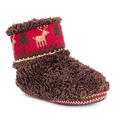 Women's MUK LUKS Betsey Reindeer Bootie Slippers