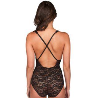 Juniors' Candie's® Semi-Sheer Lace Bodysuit