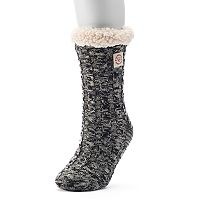 Women's Dearfoams Marled Cable Knit Gripper Slipper Socks