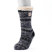 Women's Dearfoams Fairisle Cable Knit Gripper Slipper Socks