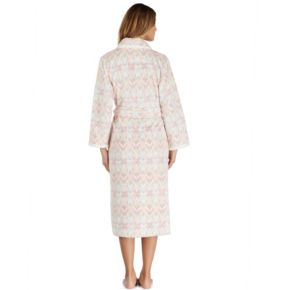 Women's Stan Herman Print Plush Long Robe