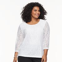 Plus Size Cathy Daniels Lace Top