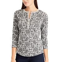 Women's Pocket Cotton Henley