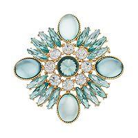Dana Buchman Art Deco Stone Cluster Pin