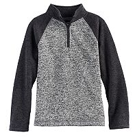 Boys' 8-20 Urban Pipeline® Marled Raglan Sweater Fleece Quarter-Zip Pullover