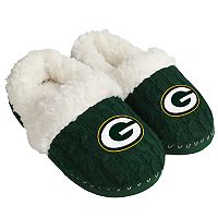 Women's Forever Collectibles Green Bay Packers Cable Knit Slippers