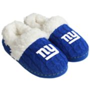 Women's Forever Collectibles New York Giants Cable Knit Slippers