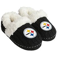 Women's Forever Collectibles Pittsburgh Steelers Cable Knit Slippers