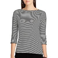 Women's Chaps Cotton-Blend Boatneck Top