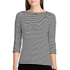 Women's Chaps Cotton-Blend Boatneck Top