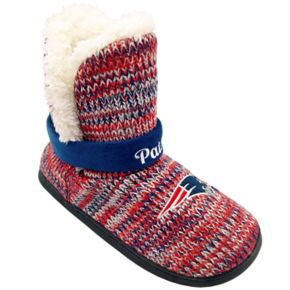Women's Forever Collectibles New EnglandPatriots Peak Boot Slippers