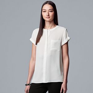 2a7b8ab5a5dce Women s Simply Vera Vera Wang Essential Textured Popover Top. (4). Sale