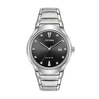 Citizen Eco-Drive Men's Paradigm Diamond Accent Stainless Steel Watch - AW1550-50E