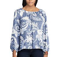 Women's Chaps Floral Peasant Top