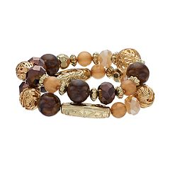 Two Row Beaded Stretch Bracelet