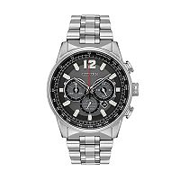Citizen Eco-Drive Men's Nighthawk Stainless Steel Chronograph Watch - CA4370-52E