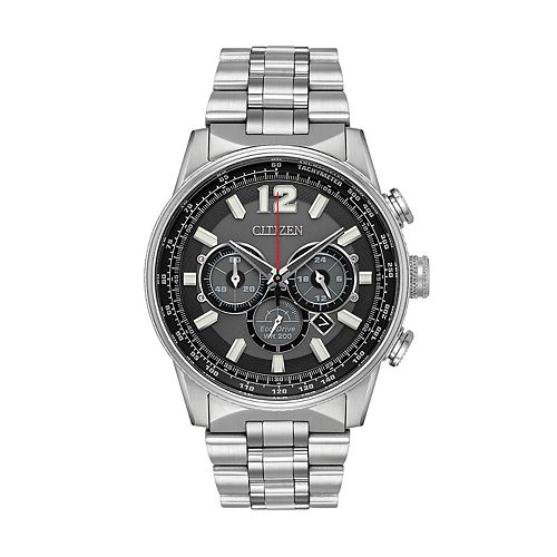 91c74a13295 Citizen Eco-Drive Men s Nighthawk Stainless Steel Chronograph Watch