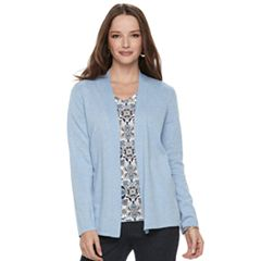Petite Croft & Barrow® Essential Open Front Cardigan