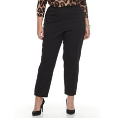 Plus Size Cathy Daniels Pull-On Black Pants