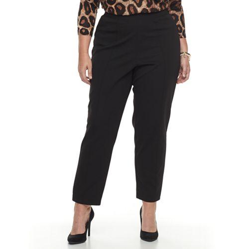 Plus Size Cathy Daniels Pull-On Black Pants