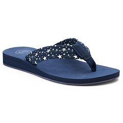 SO® Women's Lami Print Sandals
