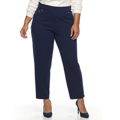 Plus Size Cathy Daniels Pull-On Ankle Pants