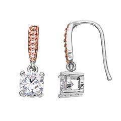 Lily & Lace Cubic Zirconia Two Tone Drop Earrings