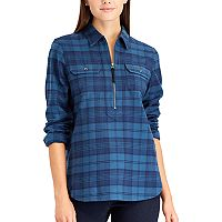 Women's Chaps Buffalo Plaid Cotton Pullover