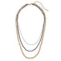 Mudd® Tri Tone Multi Strand Necklace