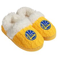 Women's Forever Collectibles Golden State Warriors Cable Knit Slippers