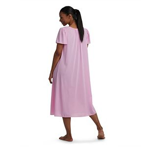 Women's Petite Miss Elaine Essentials Short Sleeve Night Gown