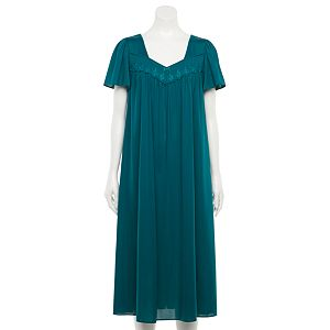 Women's Petite Miss Elaine Essentials Short Sleeve Night Gown