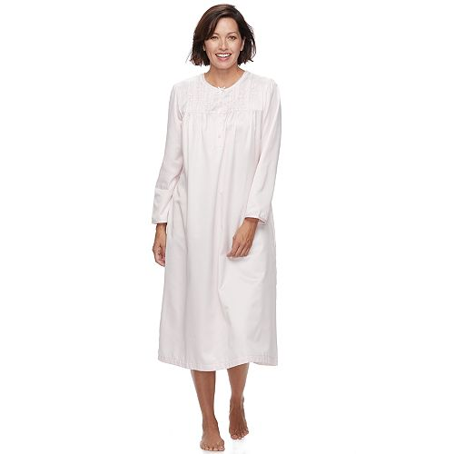 6d7941b686 Women s Miss Elaine Essentials Pajamas  Long Brushed Back Satin Nightgown