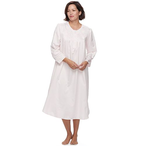 Women's Miss Elaine Essentials Pajamas: Long Rounded Bottom Nightgown